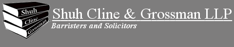 Lawyers Kitchener, Waterloo, Shuh Cline & Grossman